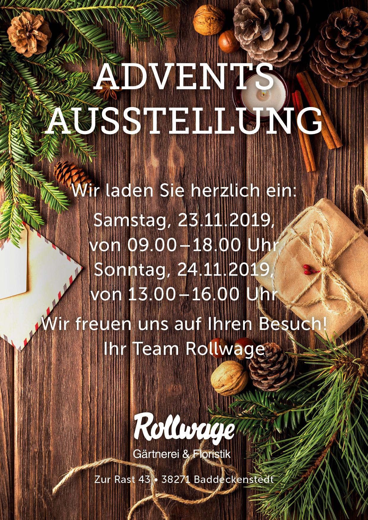 Adventsausstellung 2019 Gärtnerei Rollwage Veranstaltung